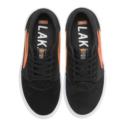 Lakai Griffin Childrens Skate Shoe Trainer Black and Orange