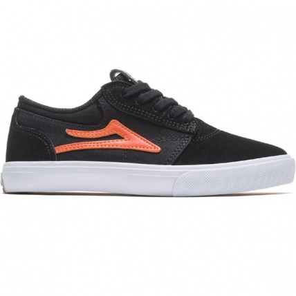 Lakai Griffin Kids Skateboarding Trainer Black and Orange