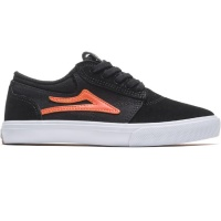 Lakai - Griffin Kids Black and Orange Suede Skate Shoe