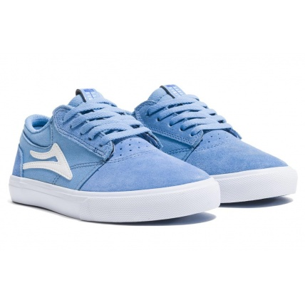 Lakai Griffin Light Blue Childs Skate Shoe Trainers