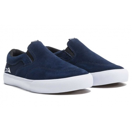 Lakai Owen Navy Blue Childs Skateboard shoe Trainer