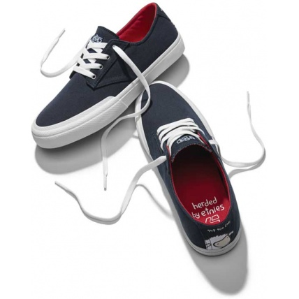 Etnies Jameson Vulc LS x Sheep Skateboarding Shoes Trainers in Navy
