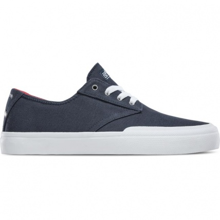 Etnies Jameson Vulc LS x Sheep Skate Shoes Trainers in Navy