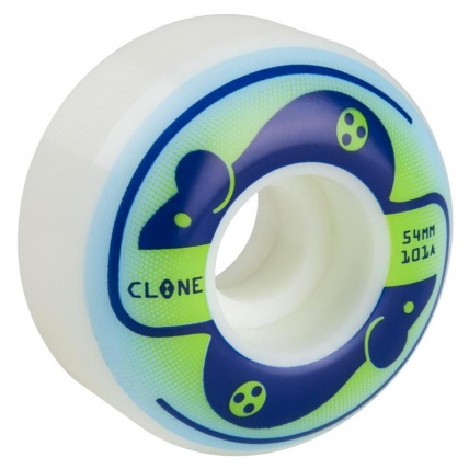 Alien Workshop Clone Wheels Mice 101a White 54mm  Pack 4 Green