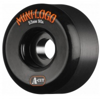 mini logo - Skate Wheels Hybrid A-Cut 90a Black 53mm