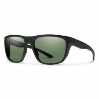 Smith - Barra Sunglasses Matt Black Grey Green ChromaPop Polarised Lens