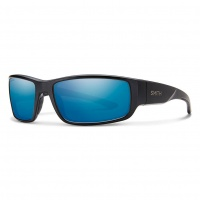 Smith - Survey Matte Black Blue Mirror Polarised Sunglasses