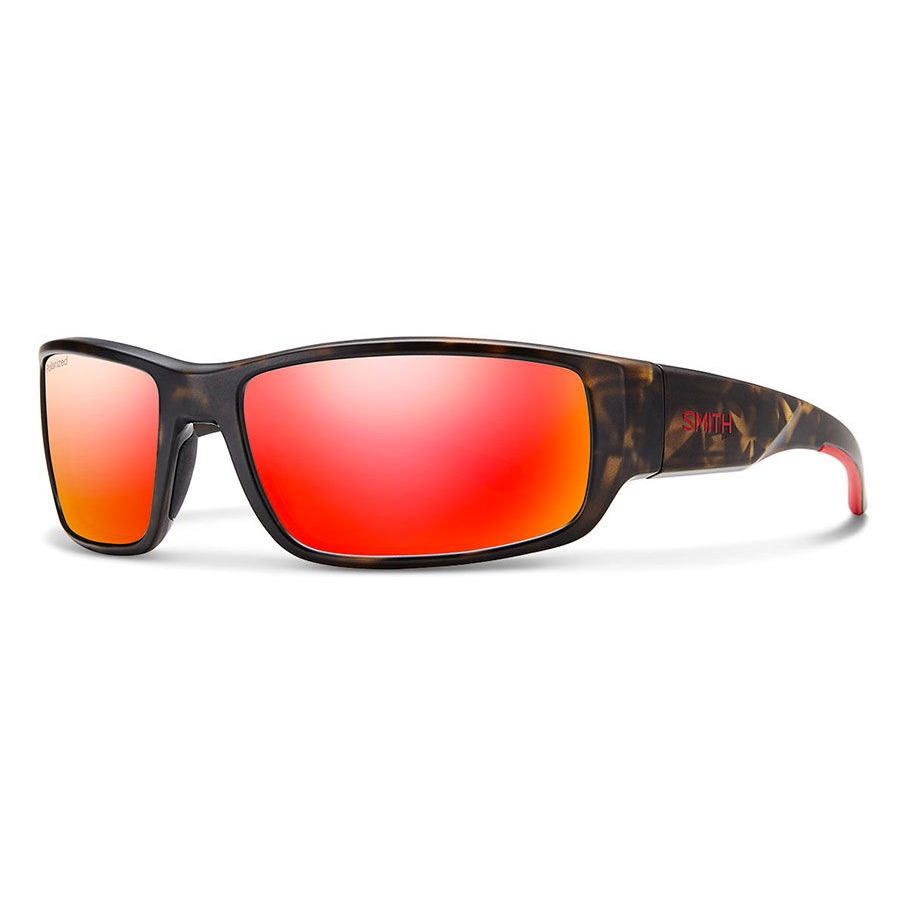 Matte Sunglasses Red Polarised Camo Survey Smith bYeWEDI9H2