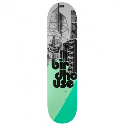 Birdhouse Skateboards Logo stacked Grey/Mint 7.75