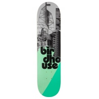 Birdhouse Skateboards - Logo stacked Grey/Mint 7.75