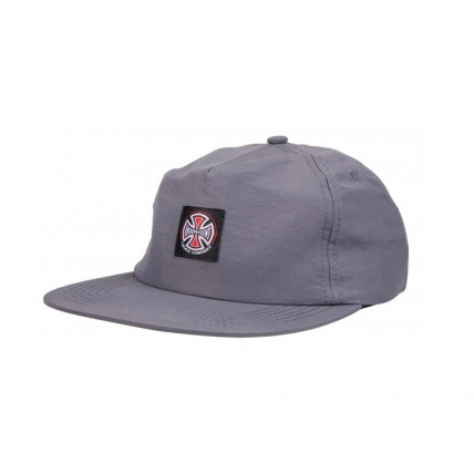 Independent Co. Trucker Skate Cap Strapback Charcoal Front