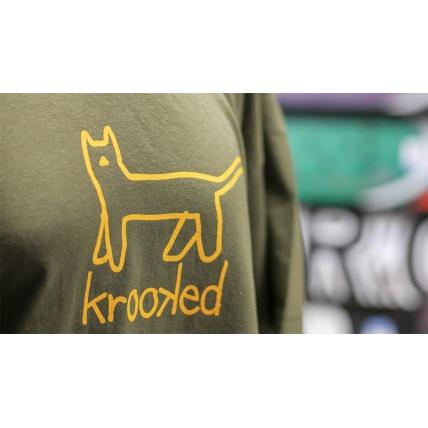 Krookec Big Kat T-shirt Army Green Yellow Photo