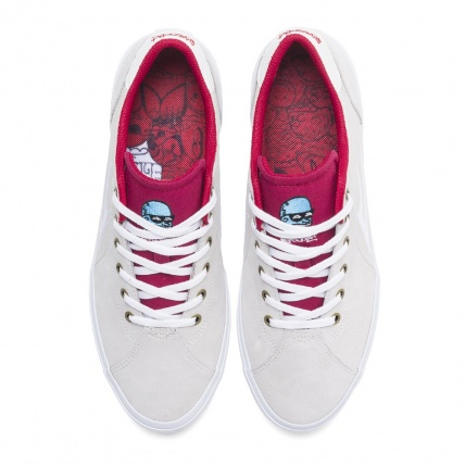 Lakai Flaco 2 x Glaboe White Red Skate Shoe top
