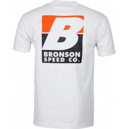 Bronson Big B T-Shirt Mens White Rear