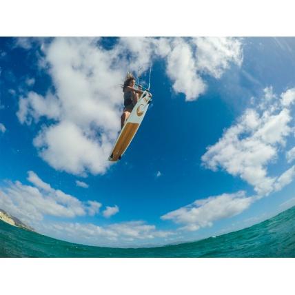 Liquid Force Drive Riding the Kiteboard