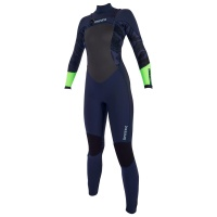 Mystic - Diva 5/3mm Navy Lime Womens Full Front Zip Wetsuit