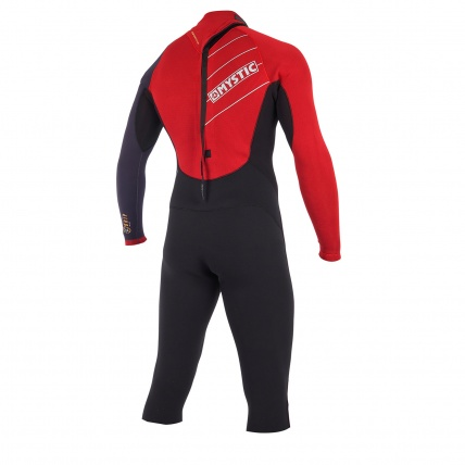 Mystic Drip 4/3mm Bordeaux Long Arm Short Leg Wetsuit Rear