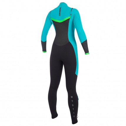 Mystic Dutchess 5/4mm Mint Womens Full Front Zip Wetsuit Rear