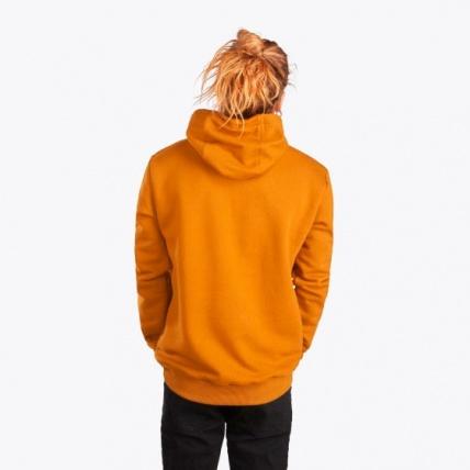 Mystic Brand Hood Sweat Golden Brown on model back