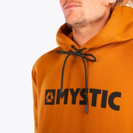 Mystic Brand Hood Sweat Golden Brown Hood Detail