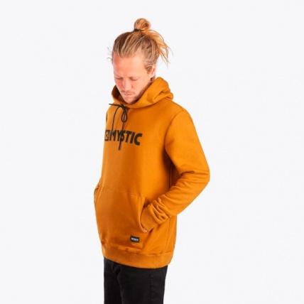 Mystic Brand Hood Sweat Golden Brown on model