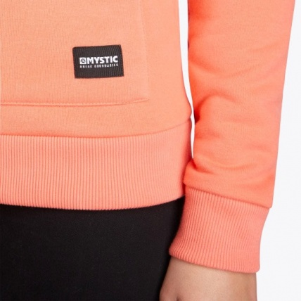 Mystic Brand Hoodie Faded Coral Womens Sweatshirt Detail