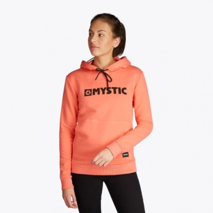 Mystic Brand Hoodie Faded Coral Womens Sweatshirt Front
