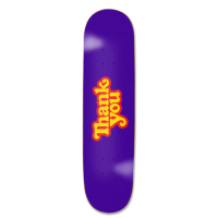 Thank You Skateboards - Classic Logo Deck 7.75in