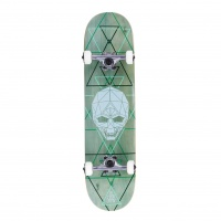 Enuff - Geo Skull Complete Skateboard 8 Inch Green