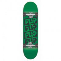 Flip - Team Quattro Odyssey Green 7.5 Complete Skateboard