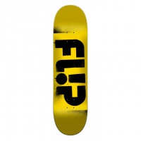 Flip - Team Odyssey Stencil Yellow 7.75 Skateboard Deck