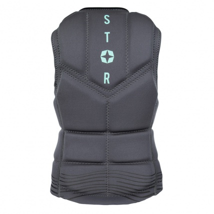 Mystic Star Womens Black Wake Impact Vest Back