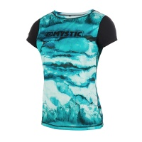 Mystic - Dazzled Mint Short Sleeve Womens Quickdry Top