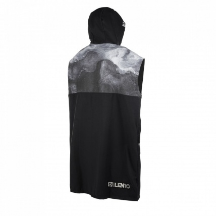 Mystic LEN10 Quick Dry Poncho Black & White Back
