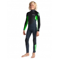 C-Skins - Junior Element 3:2 Steamer Unisex Wetsuit Graphite Flo Green
