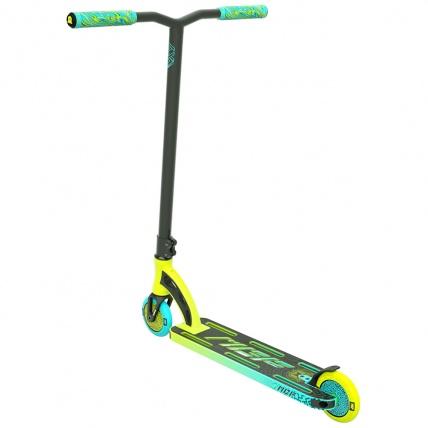 MGP VX9 Pro 4.0 Scooter Lime / Aqua Back Angle