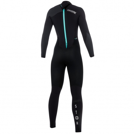 Mystic Star 3/2mm Black Grey Womens Full Summer Wetsuit Back