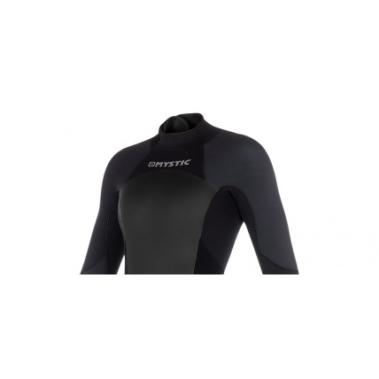 Mystic Star 3/2mm Black Grey Womens Full Summer Wetsuit Front Detail