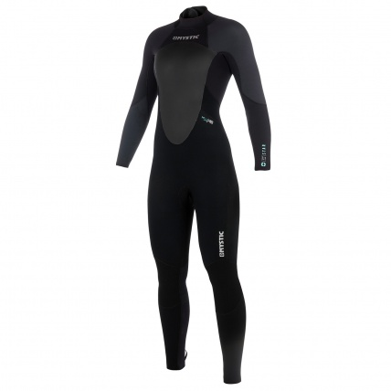 Mystic Star 3/2mm Black Grey Womens Full Summer Wetsuit