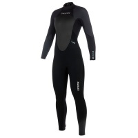 Mystic - Star 3/2mm Black Grey Womens Full Summer Wetsuit