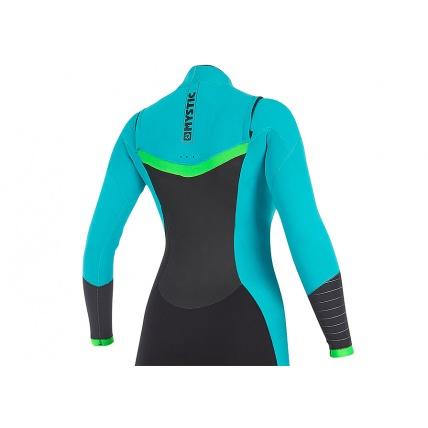 Mystic Dutchess 3/2mm Mint Womens Front Zip Full Summer Wetsuit Rear Detail