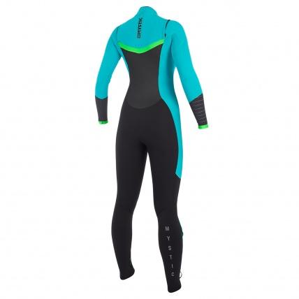 Mystic Dutchess 3/2mm Mint Womens Front Zip Full Summer Wetsuit Rear