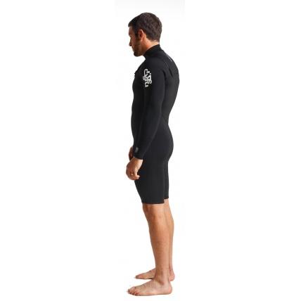 C-Skins Session Chest Zip Mens Spring Wetsuit Black