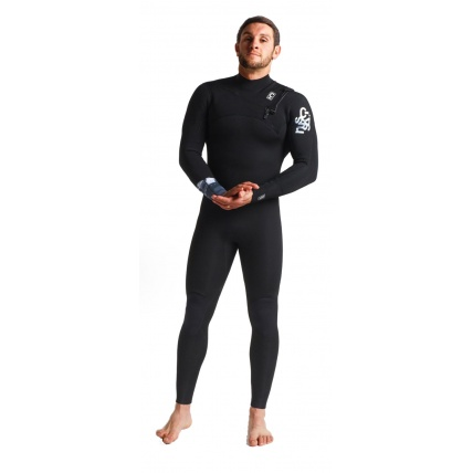 C-Skins Mens Session 4:3mm Steamer FZ Wetsuit Black C