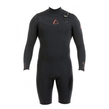 Follow Mens Pro 2:2mm Long Arm Springy Wetsuit Black