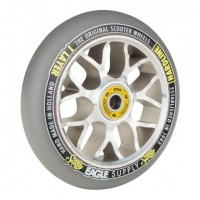 Eagle Supply - 115mm Hardline 2 Layer X6 Core Sewercaps Silver Grey Scooter Wheel