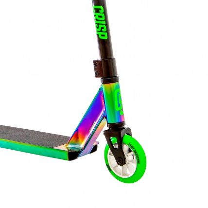Crisp Surge Colour Chrome Green Stunt Scooter