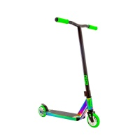 Crisp - Surge Colour Chrome Green Stunt Scooter