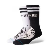 Stance - Anti Hero Crew Skate Socks Black White