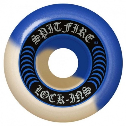 Spitfire Formula Four Lock Ins Blue White Skate Wheels